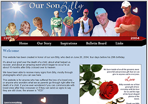 Click here to visit Our Son Billy
